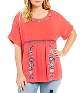 Westbound Plus Embroidered T-Body Top
