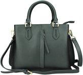 MuLier Handbag Front Vertical Zipper Pocket Real Leather Women Fashion Shoulder Bag