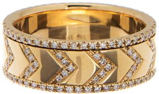Ef Collection 14K Gold Diamond Chevron Spinning Ring - 0.52 ctw