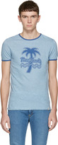 Marc Jacobs Blue Palm Tree Ringer T-shirt