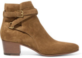 Saint Laurent Blake Suede Ankle Boots - Tan