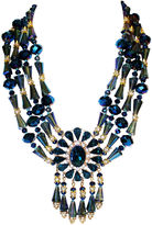 One Kings Lane Vintage Midnight-Blue Faceted Glass Necklace