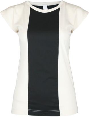 Format BASE Ecru & Black Single Plain T-Shirt - S - Black/White