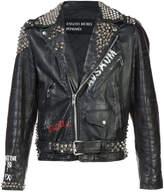 Enfants Riches Deprimes studded biker jacket