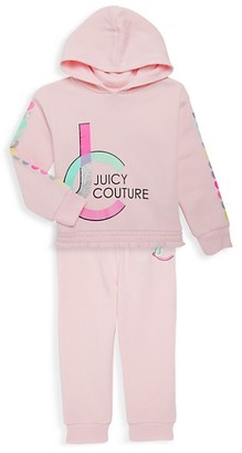 Juicy Couture Little Girl's 2-Piece Logo Hoodie Jogging Pants Set