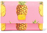 Dolce & Gabbana Printed Textured-leather Wallet - Pink