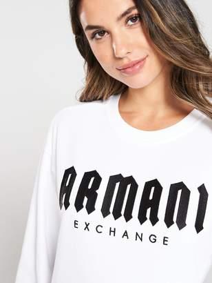 Armani Exchange Logo Sweatshirt - White/Black