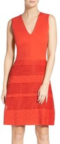 French Connection Women's Pleated Lace Dress