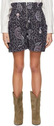 Etoile Isabel Marant Purple Nawel Shorts