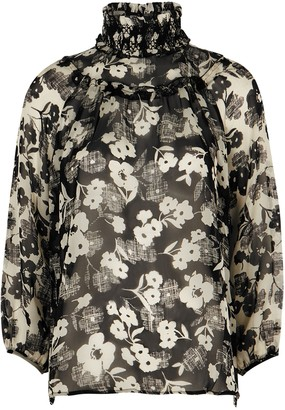 High Deception floral-print silk-chiffon blouse