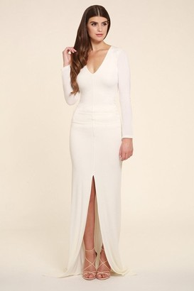 Honor Gold Jessica White Maxi Dress With long Sleeves