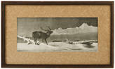Rejuvenation Framed and Mounted Elk Print by Perry Pictures