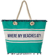 Very Where My Beaches At Bag In Green