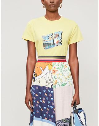 See by Chloe Logo-print cotton-jersey T-shirt