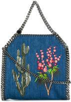 Stella McCartney Western embroidered denim Falabella tote