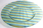 Portmeirion large Carnival Glass 14 inch diameter glass plate