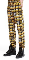Versus By Versace Versus Versace Mens Slim Fit Five Pocket Jeans W Black/Gold