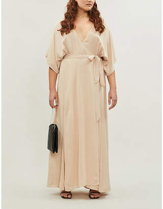 Reformation Winslow wrap-over crepe maxi dress extended sizing