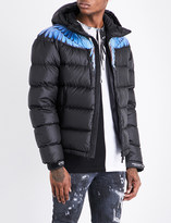 Marcelo Burlon County of Milan Wing-print quilted hooded shell jacket