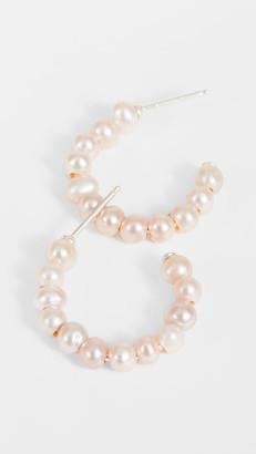 Chan Luu Pink Pearl Hoop Earrings