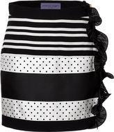Ungaro Striped Skirt with Ruffle Trim
