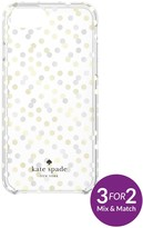 Kate Spade New York Hardshell Confetti Dot Fashion Case For Iphone 7 - Gold/Clear