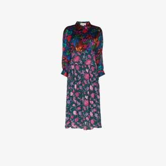 Dragon Optical Rentrayage Lady floral print shirt dress