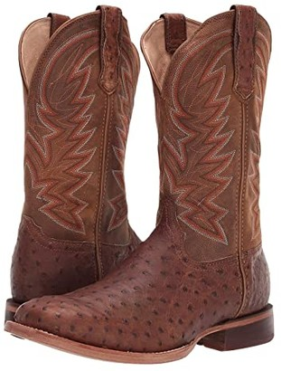 Durango Premium Exotic Full-Quill Ostrich Western Boot (Sunset Wheat Ostrich) Men's Shoes