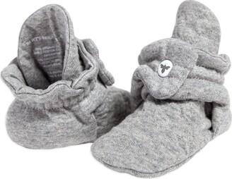 Burt's Bees Baby - Unisex Baby Booties Organic Cotton Adjustable Infant Shoes