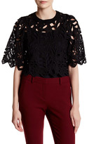 Gracia Leaf and Flower Punched Blouse
