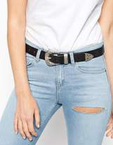 Asos Leather Western Tip Waist And Hip Belt