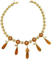 One Kings Lane Vintage French Golden Glass Necklace