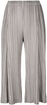 Pleats Please By Issey Miyake - pleated cropped trousers - women - Polyester - 4