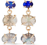Melissa Joy Manning 14-karat Gold, Labradorite And Opal Earrings - one size