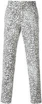 Alexander McQueen leopard print trousers - men - Cotton/Polyester/Acetate/Wool - 48