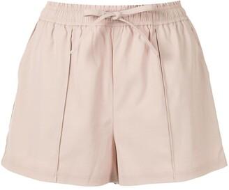 GOODIOUS Side Stripe Tie Waist Shorts