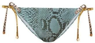 Stella McCartney Timeless Snakeskin-print Briefs - Womens - Blue Multi