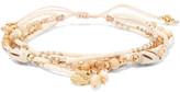 Chan Luu Gold-Tone, Cord, Stone And Bead Bracelet
