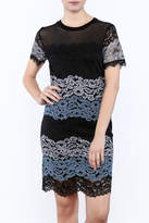 KUT from the Kloth Lace Color Block Dress