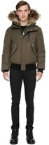 Mackage Dixon Hip Length Winter Down Parka With Fur In Army