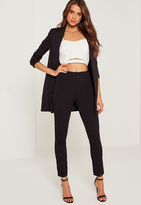 Missguided Skinny Fit Cigarette Trousers Black