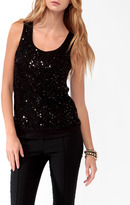 Forever 21 Banded Sequined Front Tank