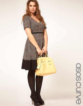 Asos Premium Midi Dress In Rainbow Textured Fabric