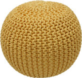 nuLoom Kelli Knitted Pouf, Yellow
