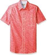 Haggar Men's Short Sleeve Portifino Cotton Shirt