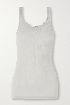 James Perse The Daily Ribbed Cotton-jersey Tank - Gray