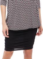 Motherhood Secret Fit Belly Side Ruched Maternity Skirt