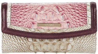 Brahmin Monte Carlo Modern Checkbook Wallet (Tea Rose) Handbags