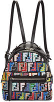 Fendi Black Mini Logo Zaino Backpack