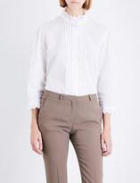 Burberry Begonia ruffled linen and cotton-blend shirt